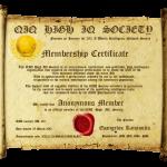 New QIQ Membership Certificate